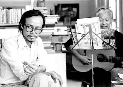 Trịnh Công Sơn và Phạm Duy. Nguồn: Blog NT Tạo