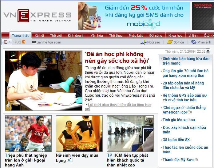 """Mặt tiền"" của VN Express"