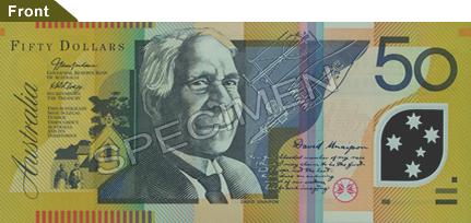 Tờ tiền polymer 50$AU