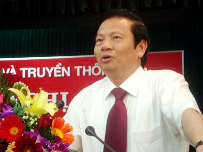 Bộ trưởng Lê Doãn Hợp, Bộ TTTT. Ảnh: VNN