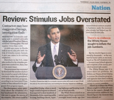 Stimulus Jobs Overstated