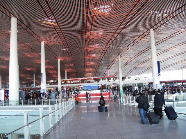Sảnh sân bay Bắc Kinh. Ảnh: HM