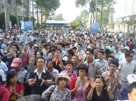 Biểu tình ở Sài Gòn.