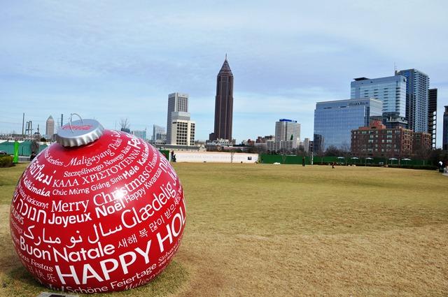 """""""Chúc mừng Giáng Sinh"""" ở Atlanta. Ảnh: HM"""