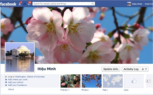 Mặt tiền của HM Facebook.