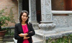 Nữ tác giả ... Voi. Ảnh FB của NgaVoi Nguyen