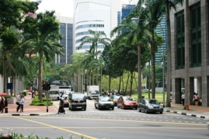 Phố phường Singapore. Ảnh: HM