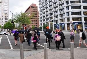Đường phố DC trong ngày Boston Bombing. Ảnh: HM