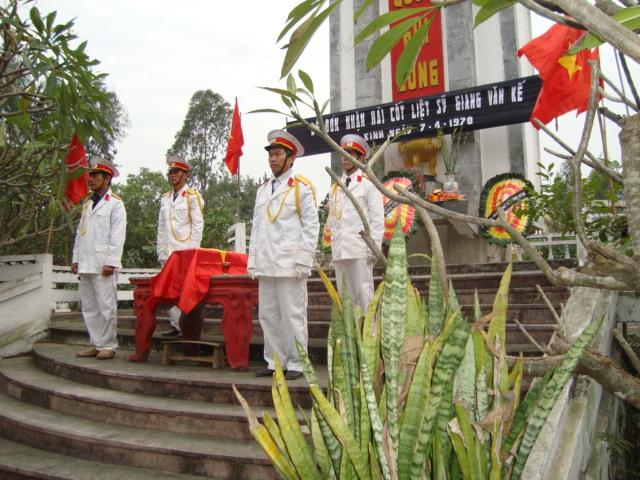 Lễ truy điệu tại Trường Yên. Ảnh: Bác Lâm.