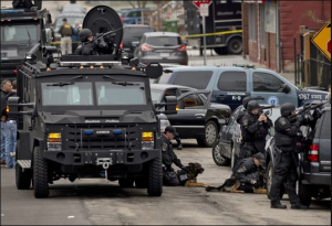 Lực lượng đặc nhiệm Mỹ ở Boston.