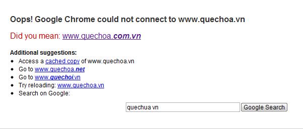 Quechoa bị hack? Ảnh chụp lúc 8:00 AM HN, 30-5-2013