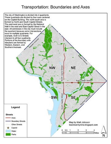 DC được chia thành 4 khu.