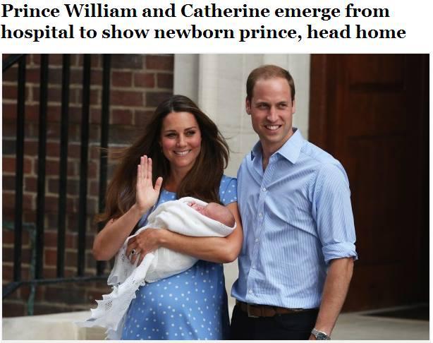 Con của Kate và William. Ảnh: Internet