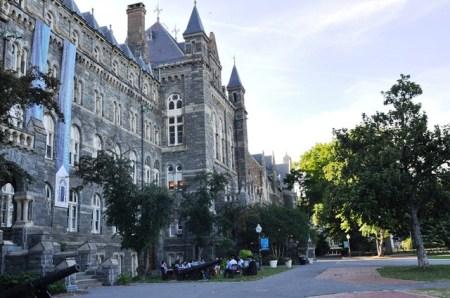 Khuôn viên ĐH Georgetown. Ảnh: HM