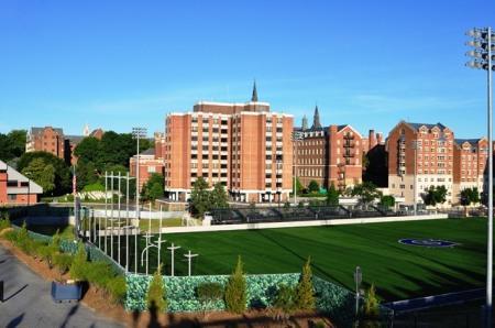 Sân thể thao của trường ĐH Georgetown. Ảnh: HM