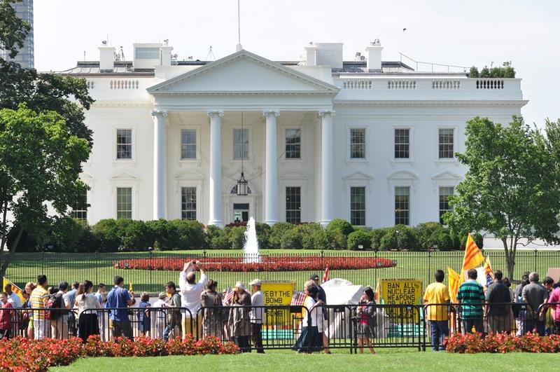Trước Nhà Trắng. Ành: HM