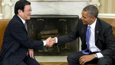 TT Obama gặp Chủ tịch TT Sang. Ảnh: Internet