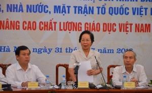 Chị Nguyễn Thị Doan dự hội nghị. Ảnh: TPO