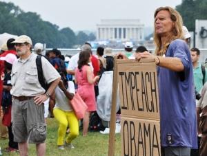 Luận tội Obama. Ảnh: HM