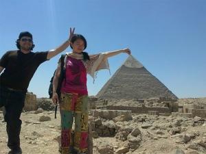 Huyền Chíp bên Ai Cập. Ảnh: internet
