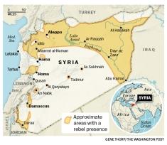 Syria ở Trung Đông. Ảnh: Internet