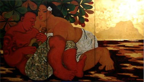 Kahaunaele và Xang Hứng. Tranh: Tim Nguyen