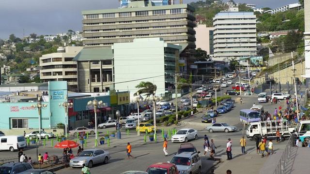 Port Moresby - Trung tâm thủ đô. Ảnh: HM