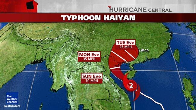 Haiyan thành Cat 2