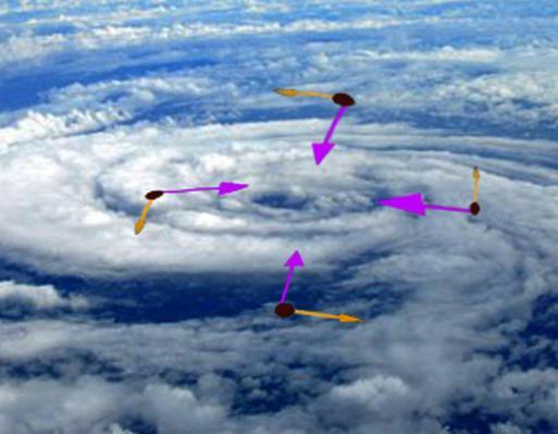 """Tâm bão xoáy. Anh: Nông Dân chụp từ """"vệ tinh"""" của Kim Dung."""