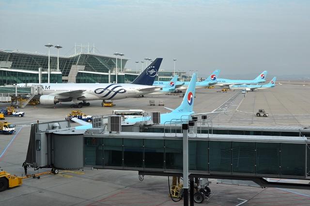 Một góc sân bay Inchon. Ảnh: HM