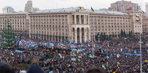 Biểu tình ở Ukraine. Ảnh: internet