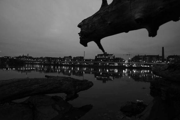 Georgetown về đêm. Ảnh: DML