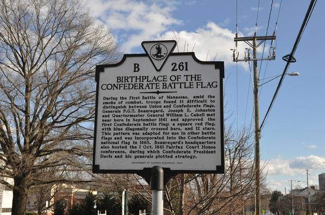 Không ngờ Fairfax là nơi sinh ra cờ chiến trận trong nội chiến. Ảnh: HM