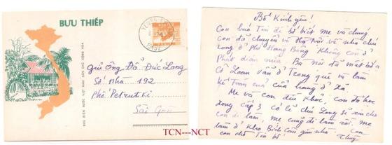 Bưu thiếp Bắc Nam. Ảnh: Internet