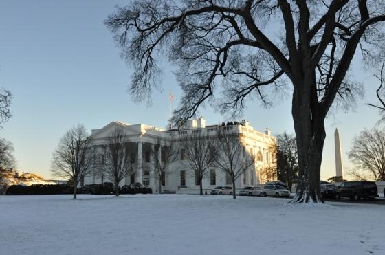 Nhà Trắng ... trắng xóa. Ảnh: HM