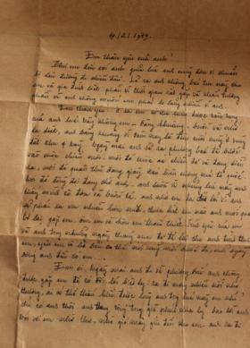 Bức thư của người lính. Ảnh: VNE.
