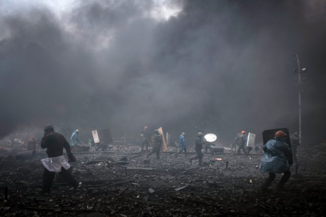 Khói lửa Maidan. Ảnh: Internet