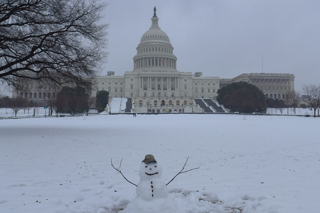 Gửi chút tuyết DC. Ảnh: HM
