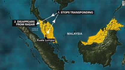 Tin mới nhận. MH370 có thế đã đổi hướng. CNN