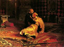 Ivan Grozny giết con trai. Tranh: Repin