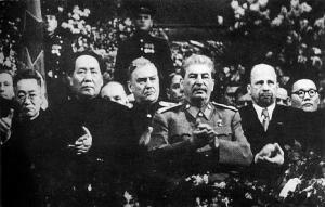 Mao Trạch Đông dự lễ SN 70 của Stalin. Ảnh: Wiki