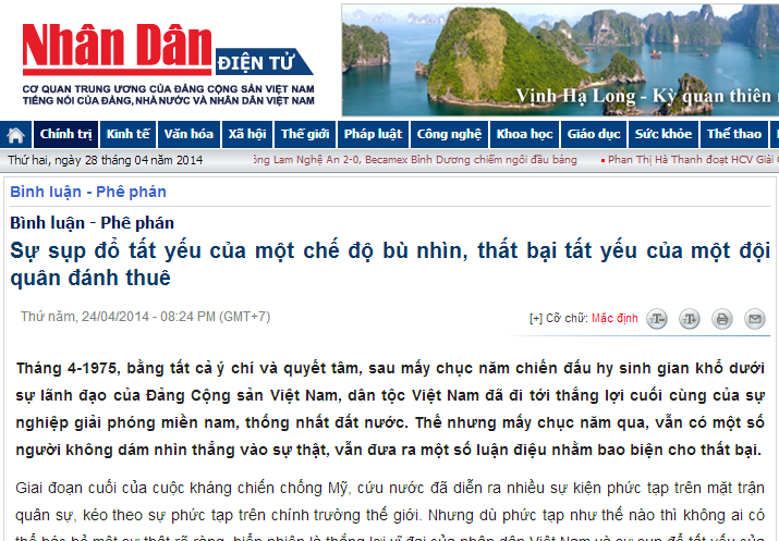 Báo Nhân Dân tại Việt Nam.