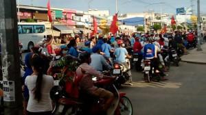 Công nhân Bình Dương biểu tình. Ảnh: Internet