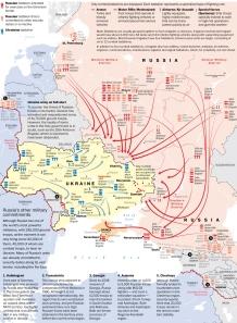 Tương quan lực lượng Ukraine và Nga. Ảnh: WP