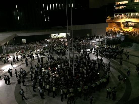 Biểu tình ở Hong Kong. Ảnh: Internet