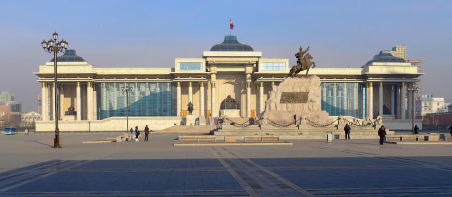 Quảng trường Sükhbaatar. Ảnh: HM