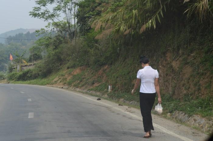 Catwalk lên đèo Pha Đin. Ảnh: HM