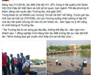 FB của anh Mai Thanh Hải. Ảnh từ VNN.