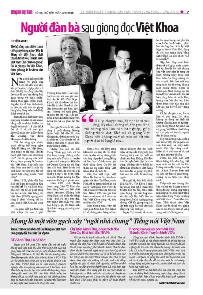 Bài đăng trên báo in, số 2-9.